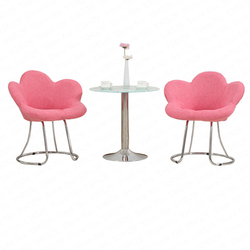 Creative Makeup Chair Modern Minimalist Bar Chair Living Room Lounge Chair Bedroom Princess Pink Cute Beauty Dressing Stool