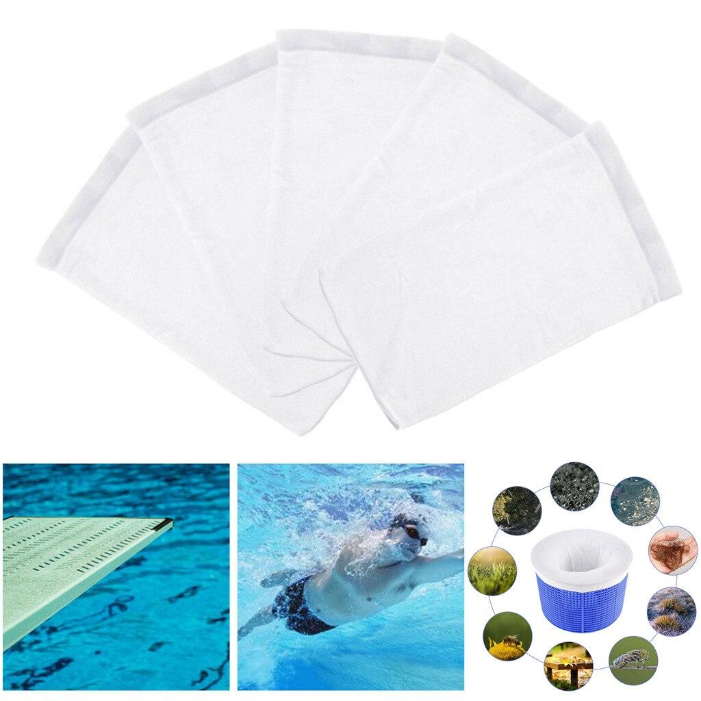 Good 5 Pcs Swimming Pool Fish Tank Socks Net Mesh Sump White Aquarium Cleaning Tools Swimming Pool Accessories Tank Socks Clean Net 2