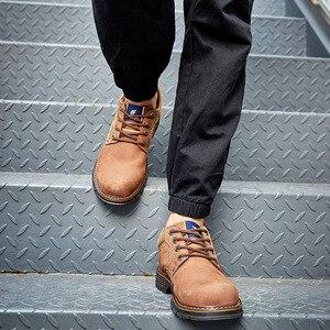 Image 2 - Zapatos de hombre CAMEL Casual de cuero de vaca, Matte Retro, conjunto de cuero genuino, zapatos de navegación para hombre, cómodo calzado Masculino