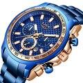 2019 LIGE  новые модные мужские часы с нержавеющей сталью  Топ бренд  роскошные спортивные кварцевые часы с хронографом  мужские часы