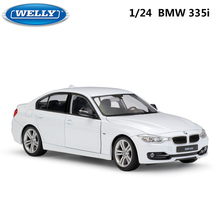 WELLY modèle de voiture, échelle 1:24, sous pression, BMW 335i/535i, véhicule classique, en alliage de métal, Collection de jouets pour garçons et enfants