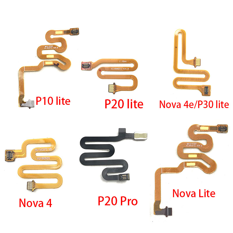 Home Button Fingerprint Touch Id Sensor Connector Flex Cable For Huawei Nova 3 3i 4 4e 5 5i Pro P10 P20 Pro P30 Lite