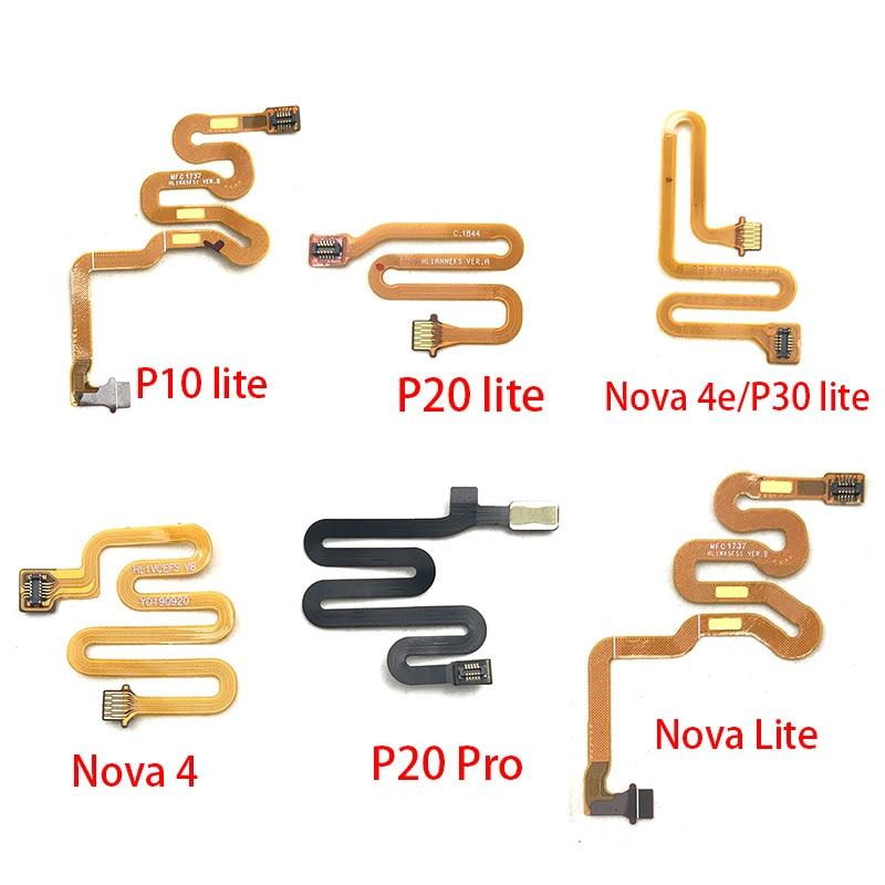 Home Button Fingerprint Touch Id Sensor Connector Flex Cable For Huawei Nova 3 3i 4 4e 5 5i Pro P10 P20 Pro P30 Lite