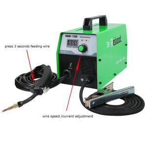 Image 4 - Reboot soldador Mig sin gas, máquina de soldadura de 220V MIG120, soldadores Mag, equipo de soldadura de acero y hierro, soldador portátil de MIG MAG