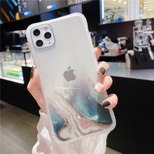 Luxury Glitter marble texture Transparent Case For