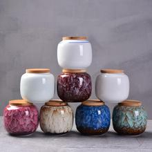 Ceramics Tea Caddies Ceramic Can Chinese Kung Fu Canister Teaset Accessories Jar Cans Box Home Office Teaware