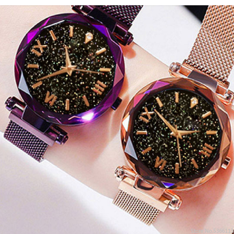 Starry Sky Watch Women Watches Fashion Magnet Watches Ladies Wristwatch For Women Roman Numeral Gift Clock Time Reloj Mujer