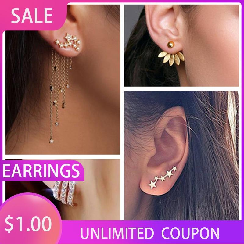 2020 New Crystal Flower Drop Earrings for Women Fashion Jewelry Gold Silver Rhinestones Earrings Gift for Party Best Friend