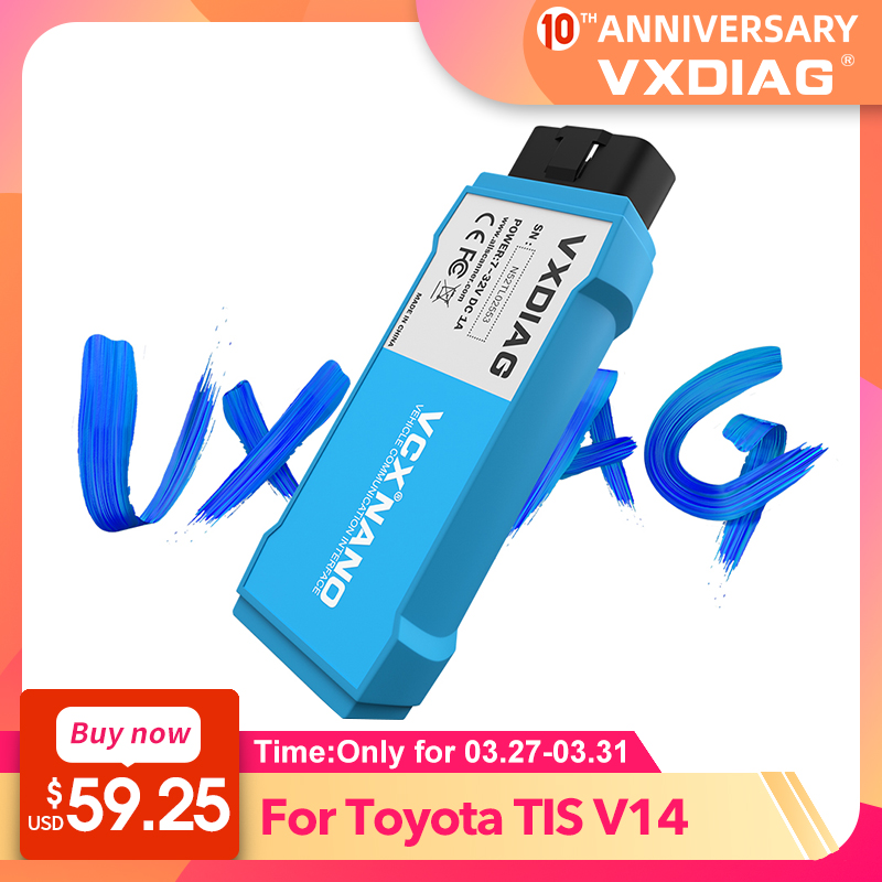 VXDIAG NANO Diagnostic Tool For Toyota It3 Software TIS V14Techstream WIFI Diagnostic Scanner For Lexus Support Year To 2019