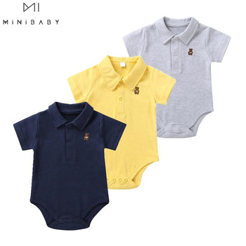 Summer Newborn Baby Boy Clothes Infant Girl Bodysuits Cotton Short sleeve Pure Color For Costume New 2020