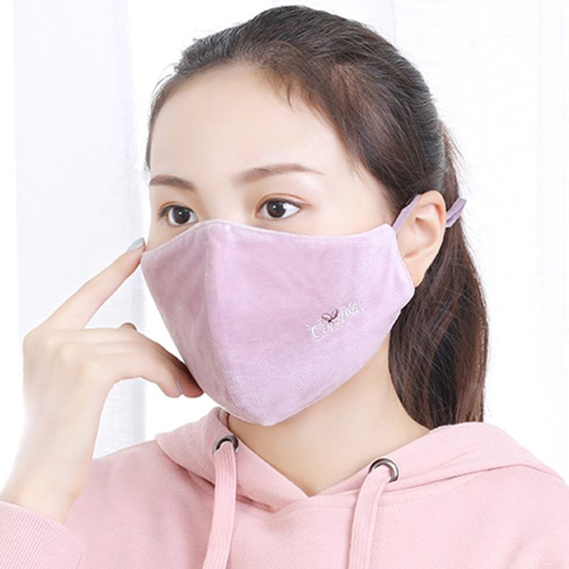 Washable PM2.5 Mouth Face Mask Anti Dust Pollution Haze Respirator Cycling Women CORD