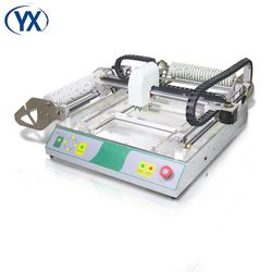 Mini desktop pick and place SMD PCB soldering machine TVM802B with 46 feeders