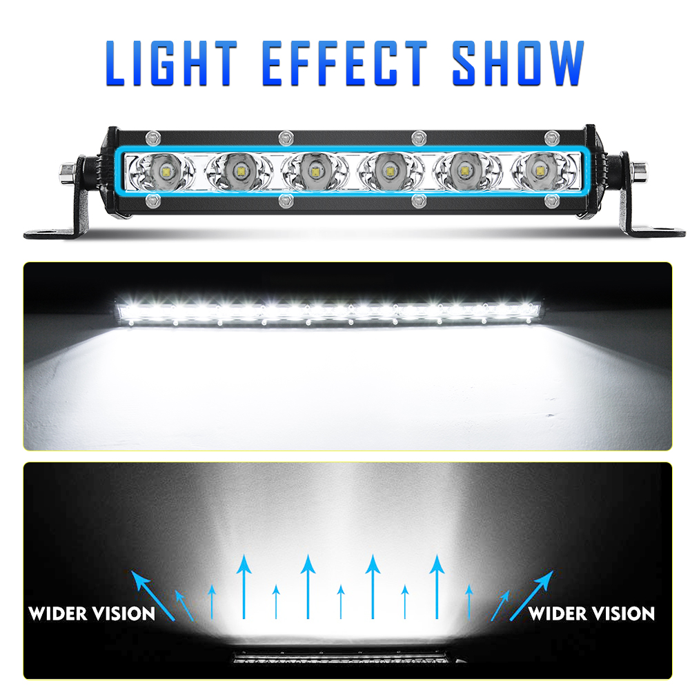 20inch Single Row Slim LED Work Light Bar Spot Flood Combo for Car Offroad Truck