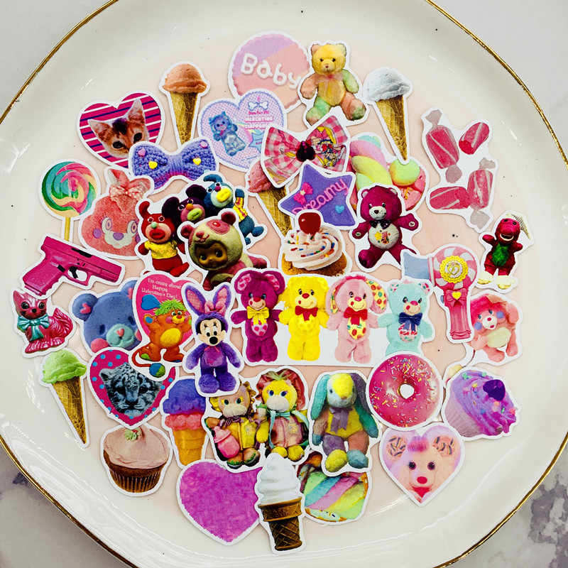 40pcs / bag Cute Toy Stickers DIY Scrapbooking Album Diary Happy Planner phone Decoration Sticker