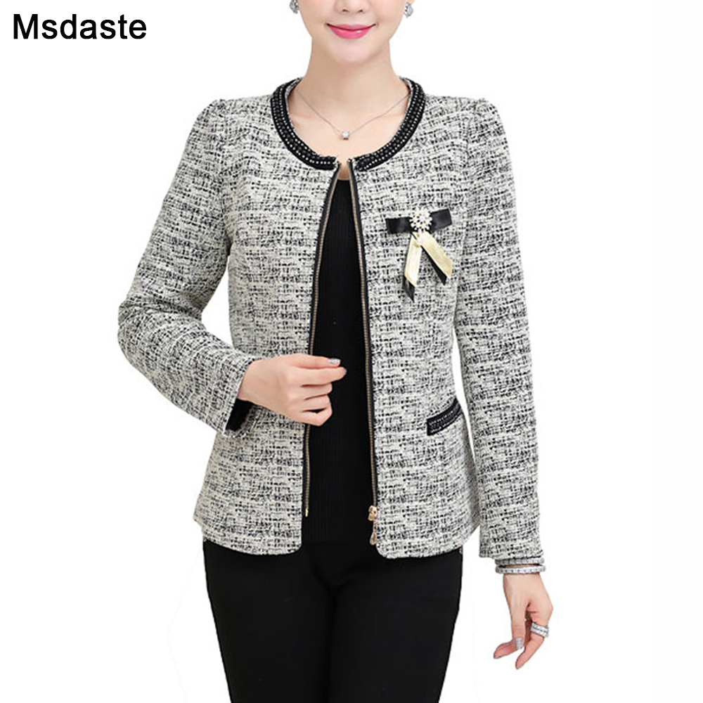 Women Blazers And Jackets Blaser Chaquetas 2019 Autumn Female Coats Mujer Jaqueta Casaco Feminino Gray Red Plus Size L~4XL 5XL