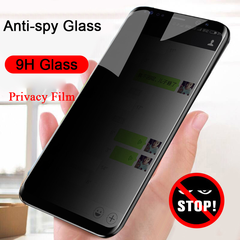 Anti Spy Privacy Glass For Samsung M10 M20 A40S A6 A8 Plus 2018 Anti Peep Screen Protector For Samsung Galaxy A7 2018 A9 M30 M40