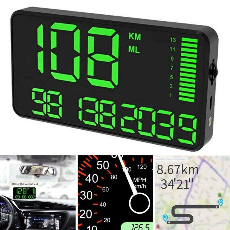 Motorfiets Auto Boot GPS Snelheidsmeter HUD Digitale Display KM/H Kilometerstand Onderdelen Kit