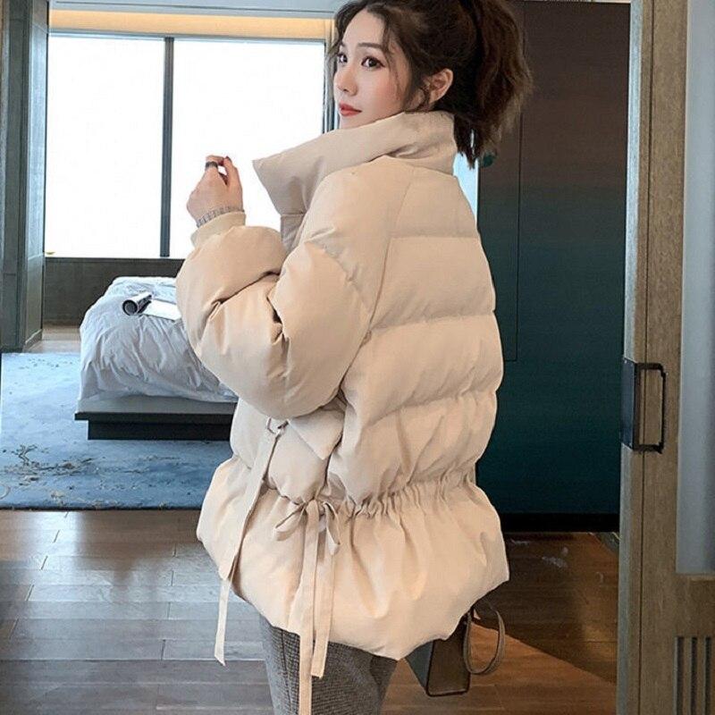 Femme Coréen à capuche Duvet Coton Manteau Court Veste Outwear Parka Chaud Épais BF