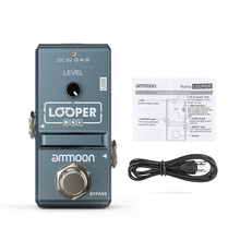 ammoon AP 09  Nano Loop Guitar Effect Pedal Looper Electric Guitar Pedal Unlimited Overdubs 10 Minutes Recording with USB Cable