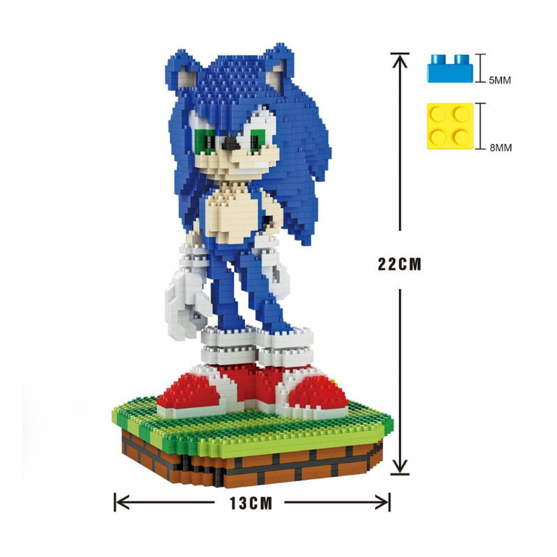 16004-16049 Micro Block Big Size Mini DIY Building Toys Ice Scrat Cute Sonic Auction Small Figure Juguetes For Kids Toys Block