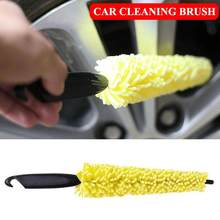 Universal Car Auto Wheel Tyre Rim Cleaning Brush Cleaning Washing Tool Car-styling Car Cleaning brush Wheel Tire Detailing Clean(China)