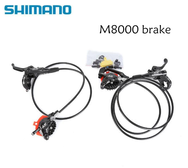 Shimano deore xt m8000 m8100 유압 브레이크 세트 ice tech 냉각 패드 mtb 자전거 부품 용 전면 및 후면 800/1500mm