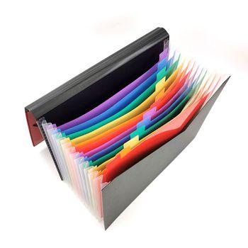13 kieszonkowy rozkładana teczka A4 duży plastikowy rozkładany organizer plików stojący akordeony Folder na dokumenty biznesowe tanie i dobre opinie Plik skrzynka Portfel app 33x24 5cm 12 99x9 65in Z tworzywa sztucznego P0RB5AC1103216-BPL