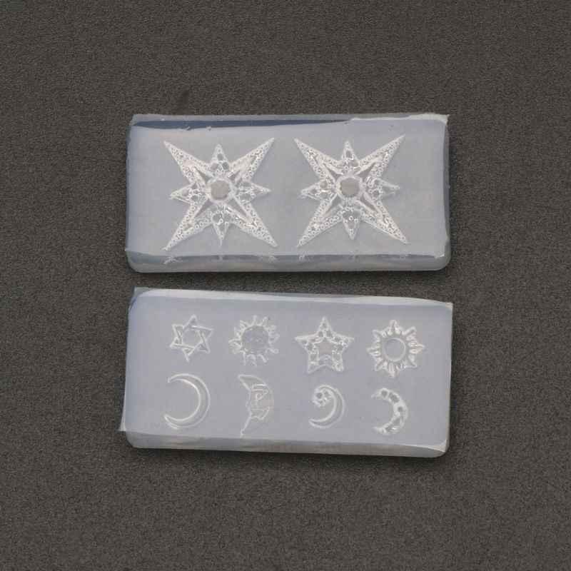 Mini Formato Luna Star Sole di Gioielli In Resina di Otturazioni In Resina Stampo In Silicone Strumenti di Gioielli