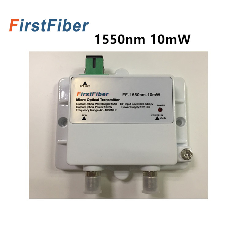 FTTH Micro Optical Transmitter model 10mW Catv Single mode fiber optic 47 1000MHz 1550nm with SC/APC-in Fiber Optic Equipments from Cellphones & Telecommunications