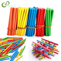 100 шт. разноцветные бамбуковые Счетные палочки, строительный стержень, детские дошкольные математические обучающие игрушки для детей ZXH