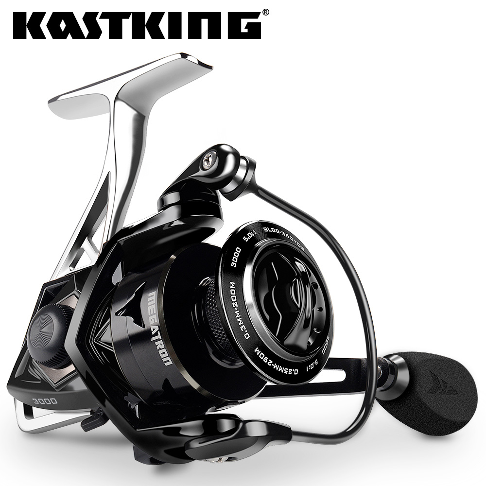 KastKing Megatron 21KG Max Drag Carbon Drag Spinning Fishing Reel With Large Spool Aluminum Body Saltwater Spinning Fishing Reel(United States)