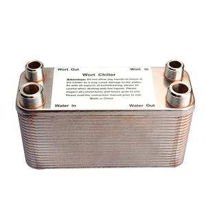 Image 4 - 20/30/40 Plates Heat Exchanger Wort Chiller, Stainless Steel Counterflow Chiller Homebrew Beer Cooler Garden Hose Rapid Cooling