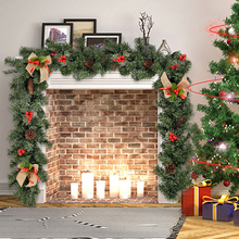 1,8 м новогоднего украшения из ротанга искусственное Цветочное дерево орнамент на открытом воздухе гирлянда кулон-венок на Рождество вечерн...
