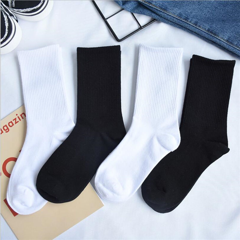 2019 Mens Cotton Socks New Styles  Pairs Black Business Men Socks Breathable Autumn Winter For Male Cotton Solid Color Sock