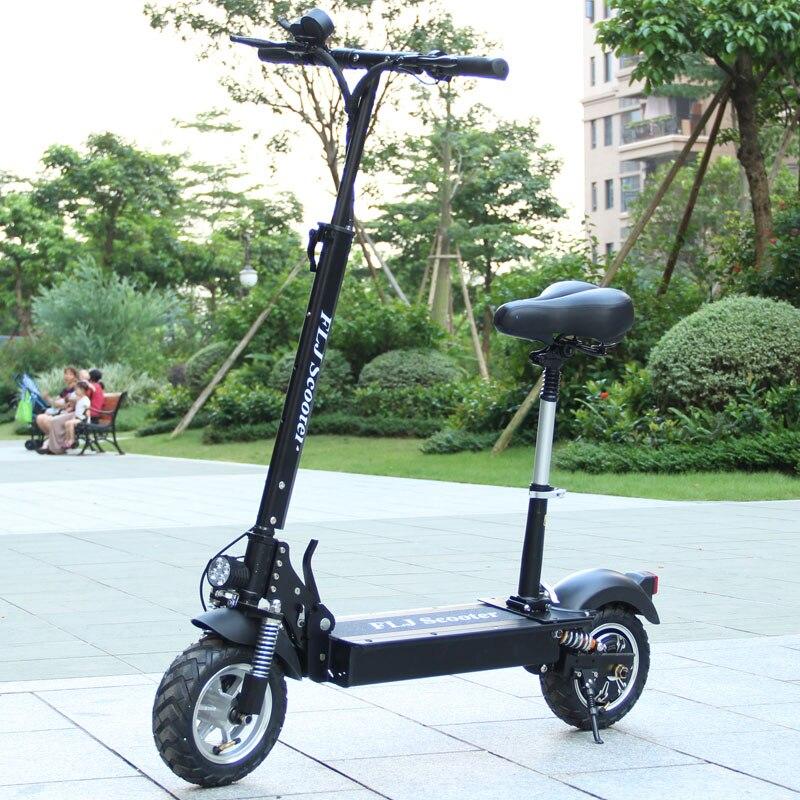 FLJ 1200W 500W skuter elektryczny dla dorosłych z siedzeniem składany hulajnoga hoverboard deskorolka rower rower elektryczny