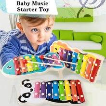 Мультфильм ксилофон игрушки детские развивающие Дети милые животные