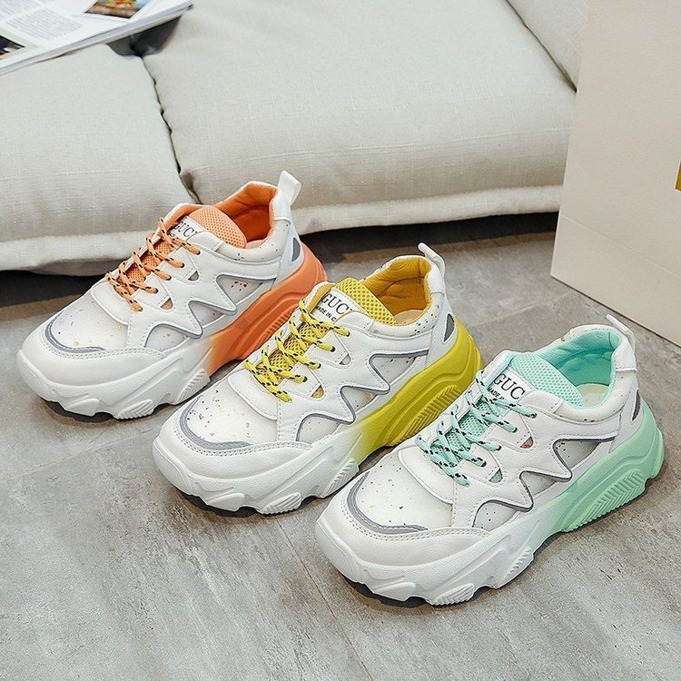 Summer 2020 New Color Women's Shoes Breathable Sports Shoes Women's Running Shoes Fashion Increased Shoes Ladies Sports Shoes