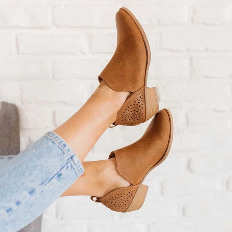 Plus ขนาดผู้หญิงรองเท้ารองเท้าส้นสูงแฟชั่นสบายๆผู้หญิงรองเท้าข้อเท้า