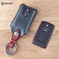 Кожаный чехол для ключей KEYYOU для автомобильного ключа чехол для Toyota Prius Corolla Verso Camry Замена карта смарт-ключа TOY43 чехол