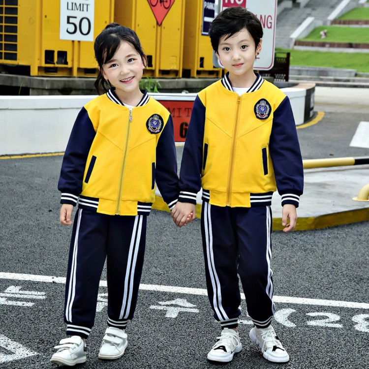 Young STUDENT'S Autumn Enter The Garden Business Attire 2018 New Style Kindergarten Casual Sports Two-Piece Set Childrenswear Sc