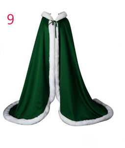 Image 4 - Victorian Bridal Cape Elves Cape Satin Wedding Cloak Hooded with Faux Fur Trim Christmas Cape Handmade Medieval Cloak