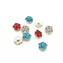New Arrival 20pcs/lot metal crystal flower alloy button 12mm Glass Snap Buttons Fit DIY Snap Bracelet Snap Button Charms Jewelry hot selling 20pcs lot flower metal crystal alloy button 12mm snap buttons fit diy snap bracelet snap button charms jewelry