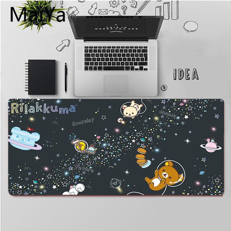 Высококачественный Прочный резиновый коврик для мыши Maiya Cute rilakkuma, бесплатная доставка, большой коврик для мыши, коврик для клавиатуры-3