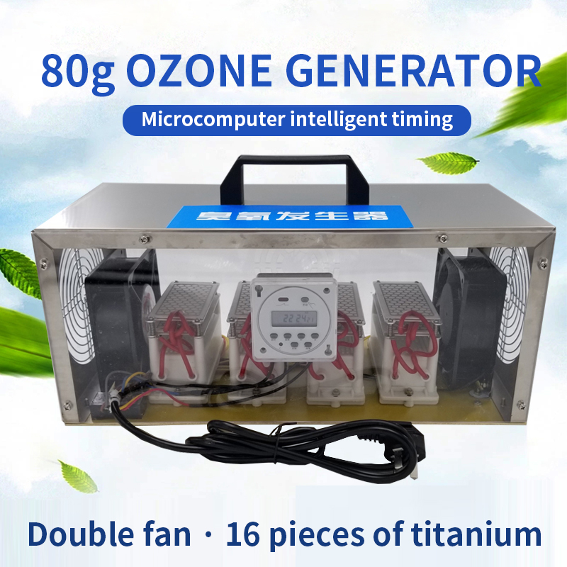 80g/h Ozone Generator Food Factory Industrial Farm Sterilization Sterilization Machine Space Deodorant Odor With Timer 110/220v