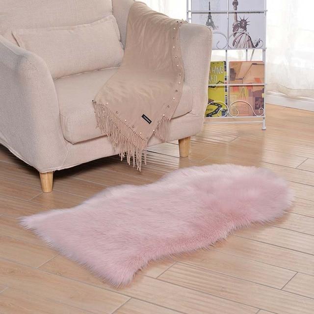Ms Soft Plush Fur Rug Living Room