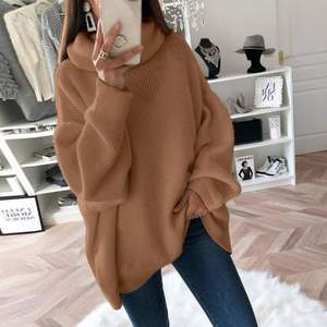 Sfit Fashion Plus Size 2XL Knitted Sweaters And Pullovers Women Loose Turtleneck Long Sweter Femme Knitwear Jumpers Tops