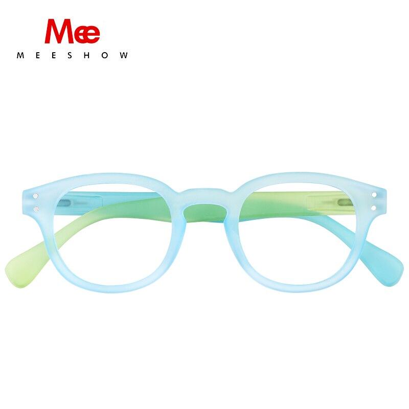 Meeshow 2020 NEW Reading Glasses Color Mixing Retro Europe Style Quality Men Women Eyeglasses With Flex Lesebrillen 1513