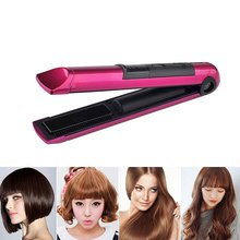 Portable Cordless Rechargeable Hair Straightener & Curler Digital LCD Display Adjustable Temperature 40 Minutes Auto Shut Off
