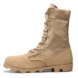 Image 2 - Professionele Militaire Laarzen Voor Mannen Speciale Kracht Lederen Desert Combat Laarzen Heren Outdoor Waterdichte Leger Enkellaarsjes