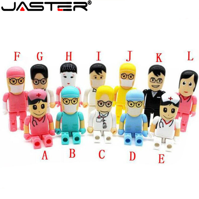 JASTER Wholesale Doctors USB 2.0 Nurse Usb Flash Drive Medical Pendrive 4GB 8GB 16GB 32GB 64GB Memory Stick Gift For Hospital